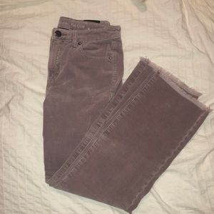American eagle corduroy cropped kick flare jeans